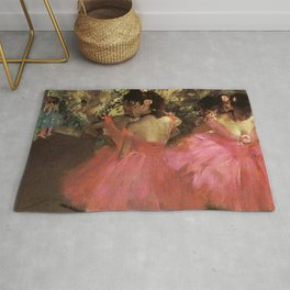 Dancers In Pink 1885 By Edgar Degas | Reproduction | Famous French Painter Rug