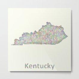 Kentucky map Metal Print