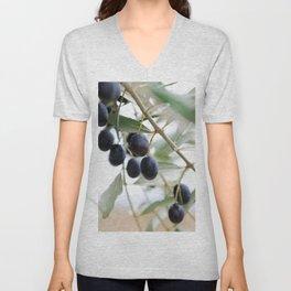 Olive twigs Unisex V-Neck