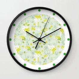 Green safari Wall Clock