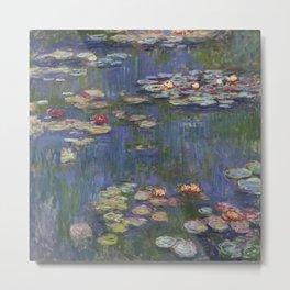 Water Lilies (Nymphéas), c.1916 Art, Monet Metal Print
