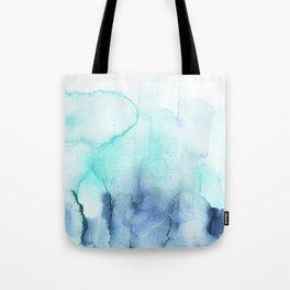 Wanderlust Teal Blue Watercolor Tote Bag