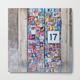 The Secret behind the Door Number 17 of Catania - Sicily Metal Print