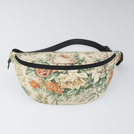Wildflowers and Roses // Fleurs III by Adolphe Millot 19th Century Science Textbook Artwork Fanny Pack