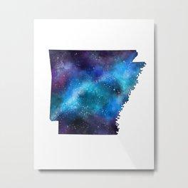 Arkansas State Galaxy Map / United States Art Print Metal Print