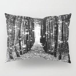 Magical Forest Black White Gray Pillow Sham