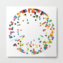 Rainbow Data Metal Print