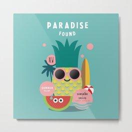 Summer paradise found Metal Print