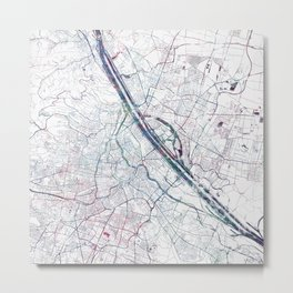 Vienna map Metal Print