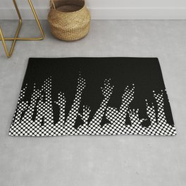 Halftone Raised Hands Rug