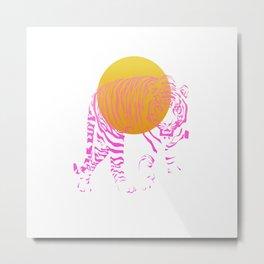 Sunset Guard Metal Print