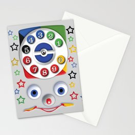 Classic Retro vintage Smiley Toys Dial Phone Stationery Cards
