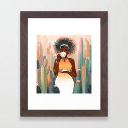 Cacti Tea Framed Art Print