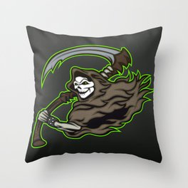 grim reaper ,grim reaper tattoos Throw Pillow