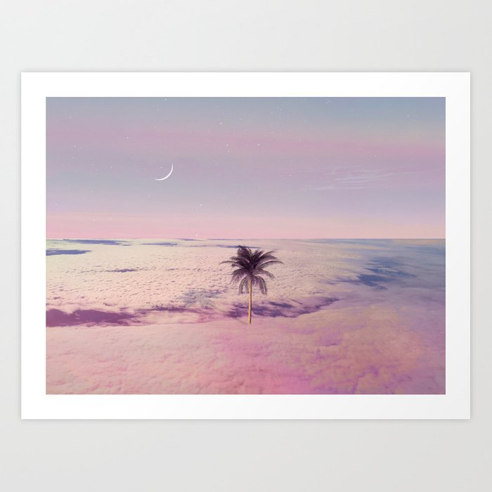 Somewhere in the sky Art Print