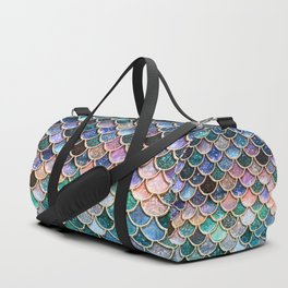 Multicolor Pink And Aqua Mermaid Scales - Beautiful Abstract Glitter Pattern  Duffle Bag
