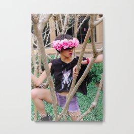 Nu goth 1 Color Metal Print