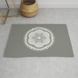 flower of life, alien crop formation, sacred geometry Rug