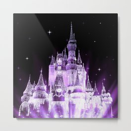 Enchanted Castle Purple Lavender Metal Print