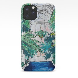 Kew Gardens Sunrise Walkway Greenhouse Jungle Painting London iPhone Case