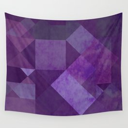 Purple Squares Wall Tapestry