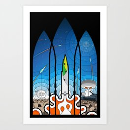 The Window of Opportunity - stained glass window print Art Print