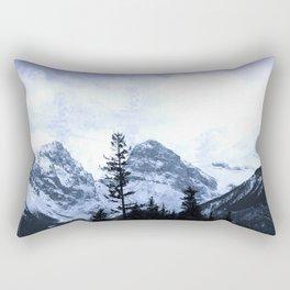 Mystic Three Sisters Mountains - Canadian Rockies Rectangular Pillow