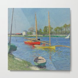 "Gustave Caillebotte ""The Seine at Argenteuil"" Metal Print"