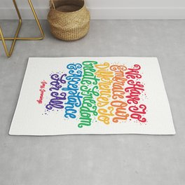 We Have To Embrace Our Differences... Rug