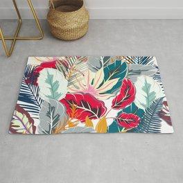 Trendy fashion tropics. Vector illustration print Rug