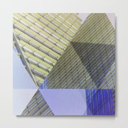 Architectural Triangles Abstract Design Metal Print