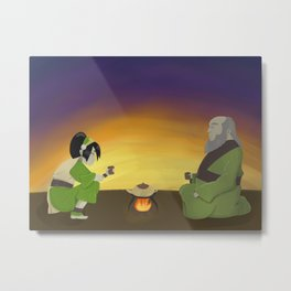 Cup of Tea with Iroh Metal Print