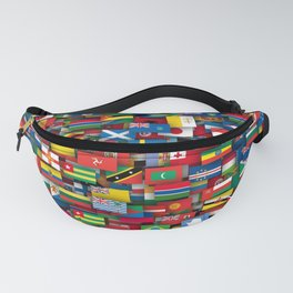 Flags of all countries of the world Fanny Pack