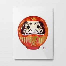 Japanese Good Luck Charm Metal Print