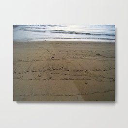 Traces of Waves Metal Print