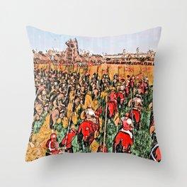Siege of Edessa Throw Pillow