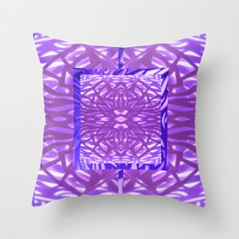 Pushing Purples Throw Pillow