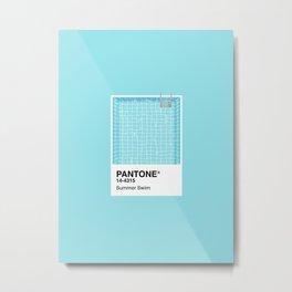 Pantone Series – Summer Swim Metal Print