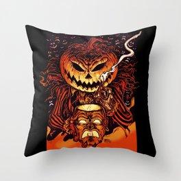 Halloween Pumpkin King (Lord O' Lanterns) Throw Pillow