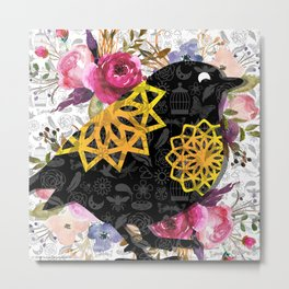 Flights of Fancy Too-Chickadee Metal Print