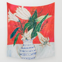 Easter Lily Bouquet Wall Tapestry