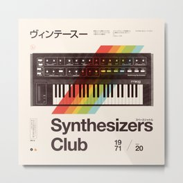 Synthesizers Club Metal Print
