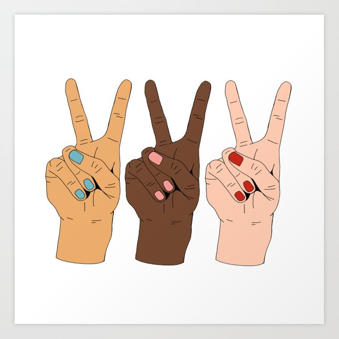 Peace Hands 3 Kunstdrucke