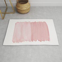 Blush Abstract Minimalism #1 #minimal #ink #decor #art #society6 Rug