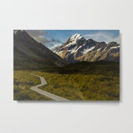 Aoraki Mount Cook NP in Summer Metal Print
