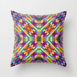 tatiana - bright vivid pattern with southwest vibe Throw Pillow