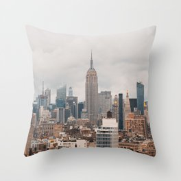 Empire State Building in Grey Throw Pillow