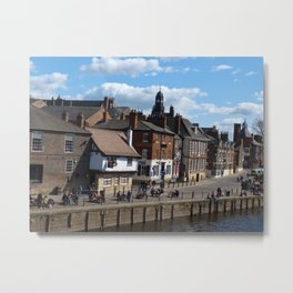 Kings Staith York river ouse Metal Print
