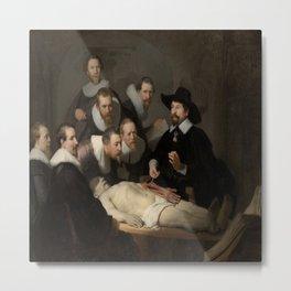 Rembrandt van Rijn's The Anatomy Lesson of Dr. Nicolaes Tulp Metal Print