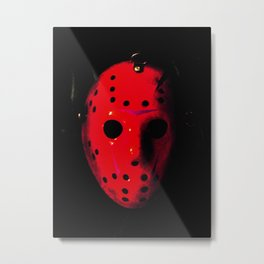 Jason - Blood Metal Print
